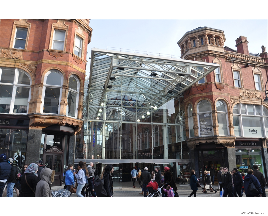 The magnificent Victoria Quarter in Leeds, home of Opposite.