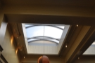 Part of the reason it's so bright are the skylights that run all the way down the room.