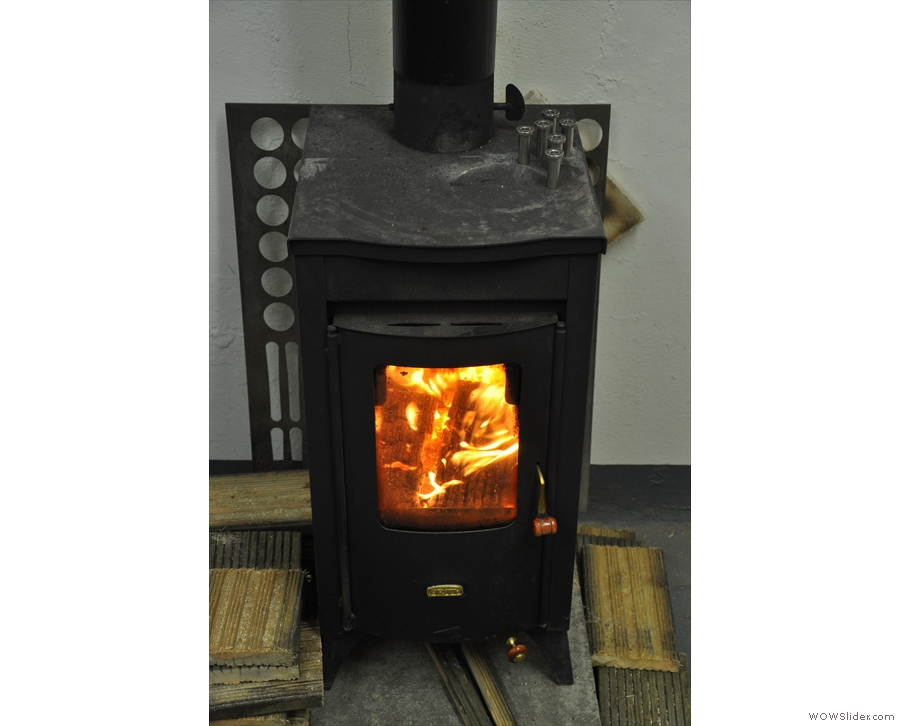 It was cold in Made by Knock, but the stove kept things warm. It also served a practical purpose: heating the burr housings to ensure a snug fit!