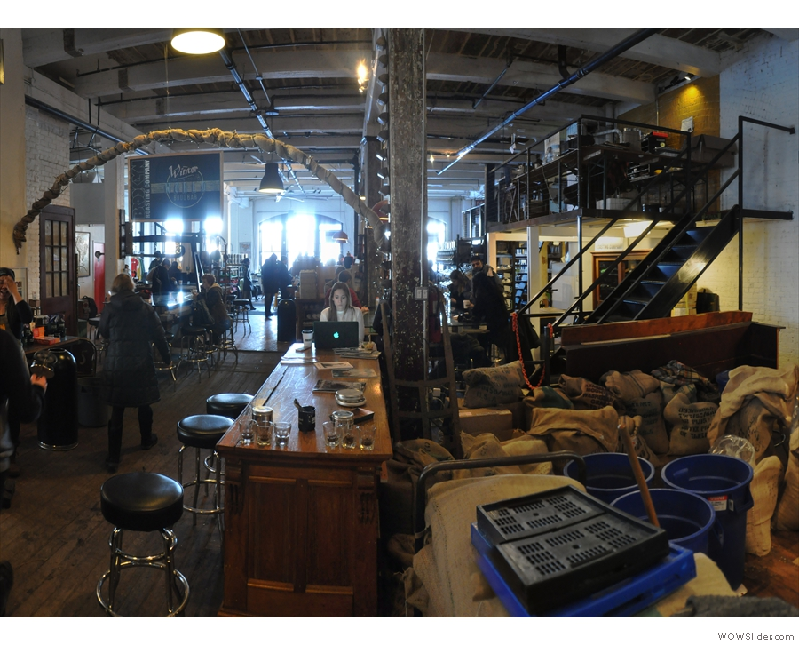 The view from the roaster area back towards the main counter...