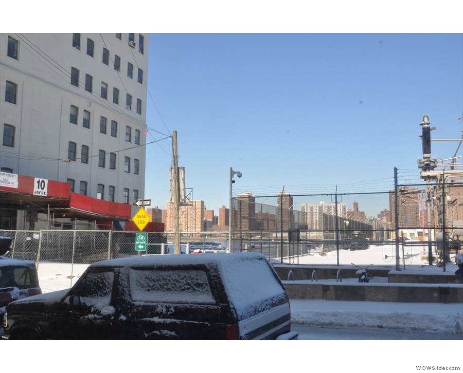 ... where I had this view of the electricity sub station next to the East River.