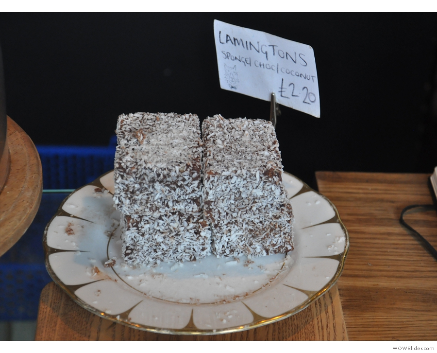 In focus lamingtons. Any guesses where the owner, Travis, is from?