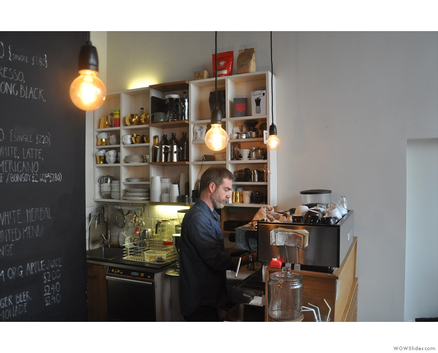 That's right, he's from Australia, bringing a slice of Aussie cafe culture to Brighton.