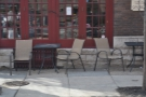 ... and another pair of tables on S 11th Street.