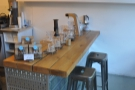 A more detailed of the brew bar as seen in May.