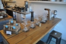 You can sit at the brew bar if you like, which has a great view along the counter.