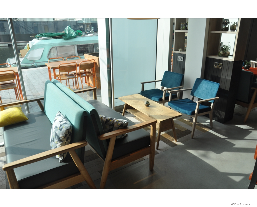 Or there's coffee-table style seating by the windows...
