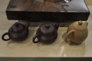 ... so the nice people at NVT made me sit down and try some. Nice teapots!