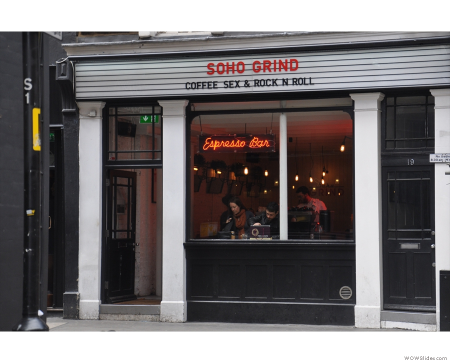 Soho Grind on Beak Street: Coffee Sex & Rock n Roll. And an espresso bar...