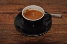 On my second visit, I settled for an espresso in a classic (hard to photograph) black cup