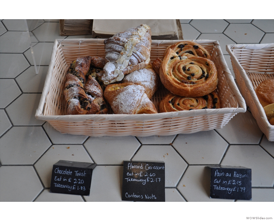 However, let's start at the front with the pastries...