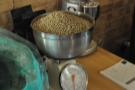 The owner, Sebastian, gave me a roasting demo. First, start with the green beans...