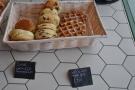 ... which sit alongside the scones and waffles.