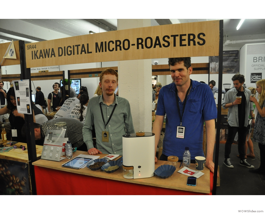 Meet the men behind the Ikawa Home Roaster Stand at the London Coffee Festival.
