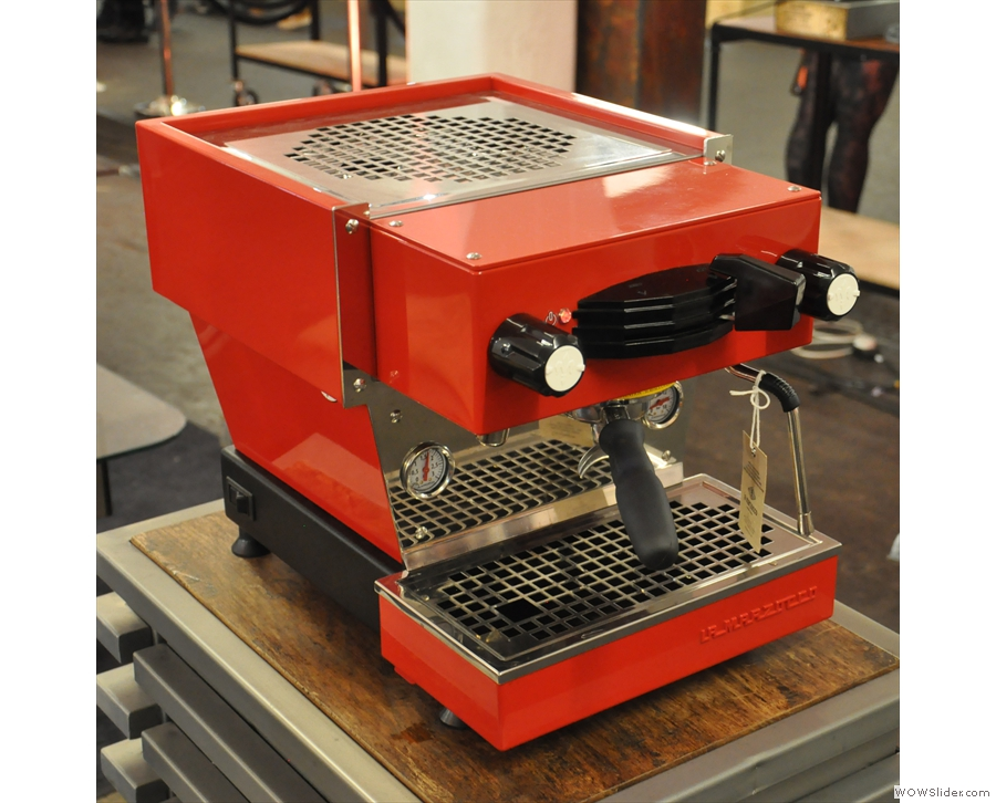 ... and the La Marzocco Mini home machine.