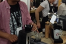 Patrick of Coffee Easy in action at the London Coffee Festival...