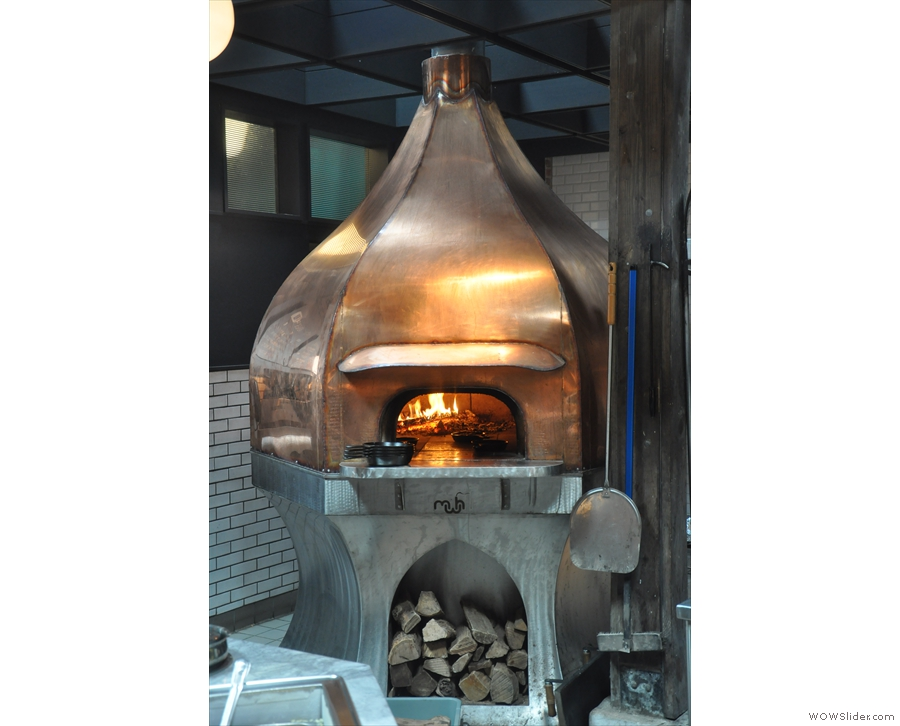 Next is this magnificent wood-burning oven...
