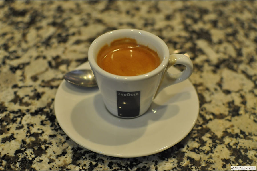 And, of course, there was the obligatory espresso.