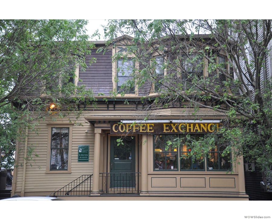 On leafy Wickenden Street, on Providence's East Side, you'll find Coffee Exchange.