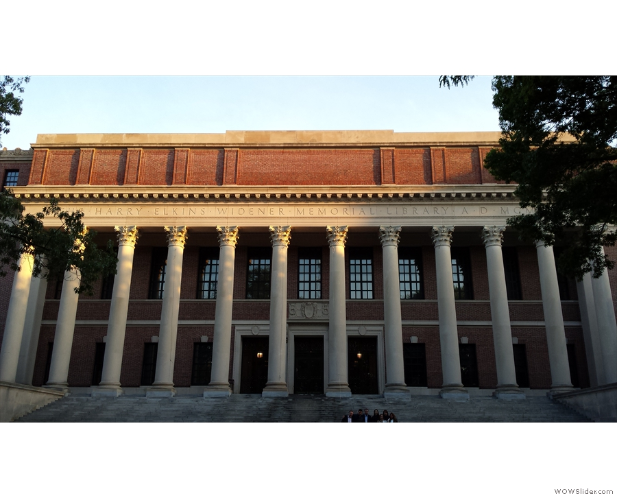 I leave you with the setting sun on the library at Harvard...