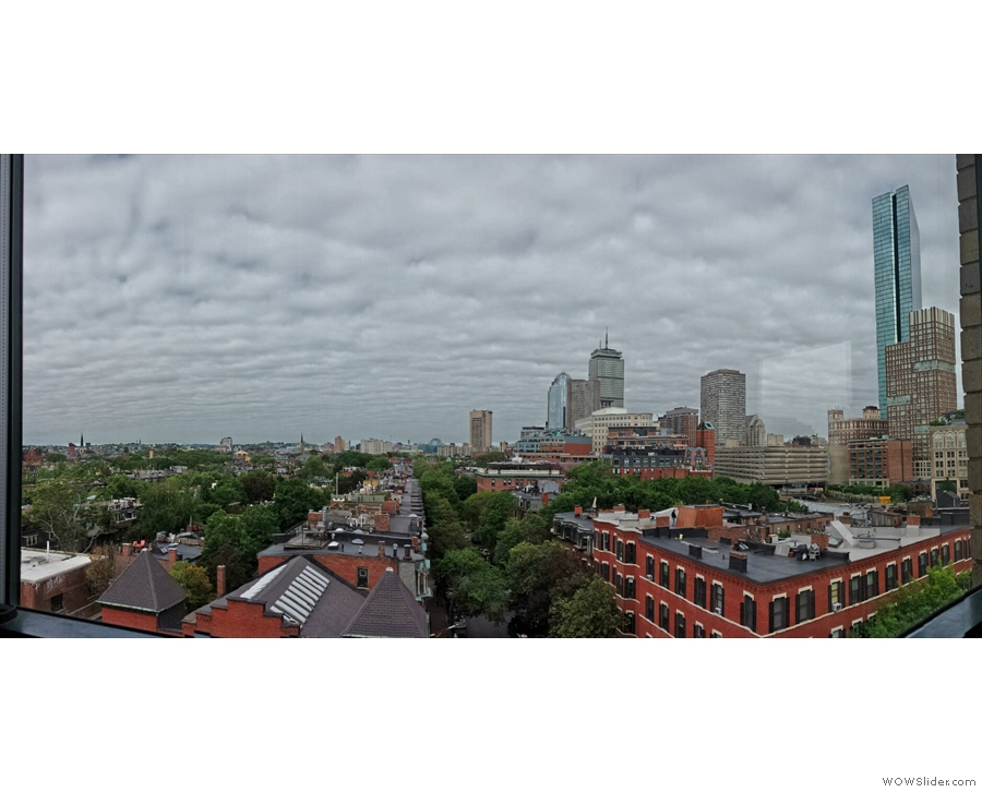 Day 4: a final view from my hotel window before I leave Boston. Quite cloudy, but not raining.
