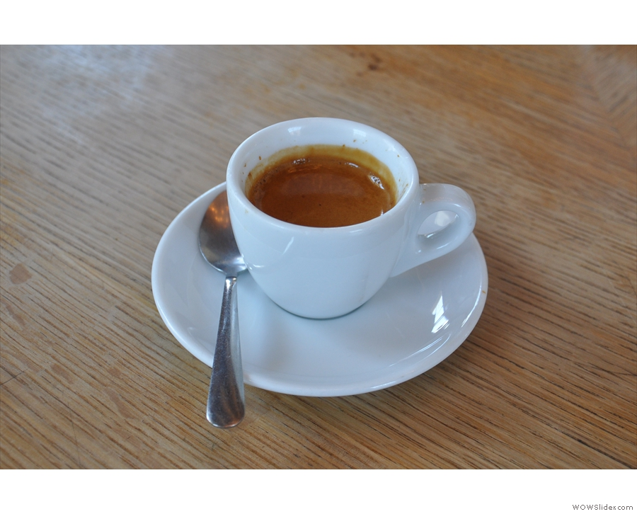 I also had this lovely Ethiopian single-origin espresso, expertly pulled by Avery.