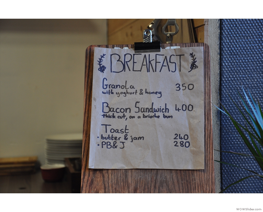 Talking of Alan, he also supplies all the bread used in the similarly select breakfast  menu.