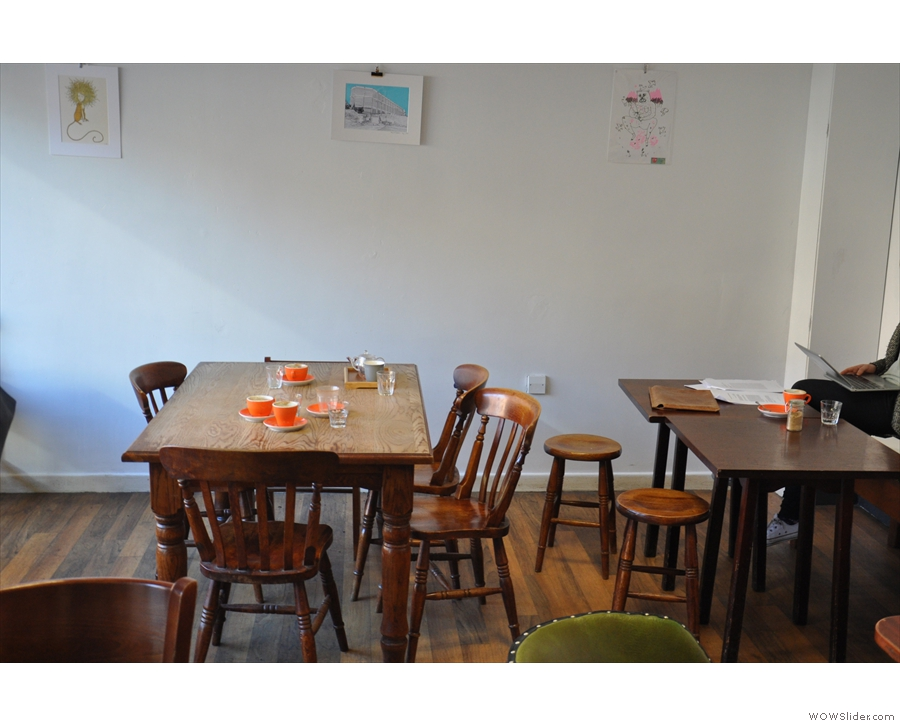 ... and this communal table by the left-hand wall.