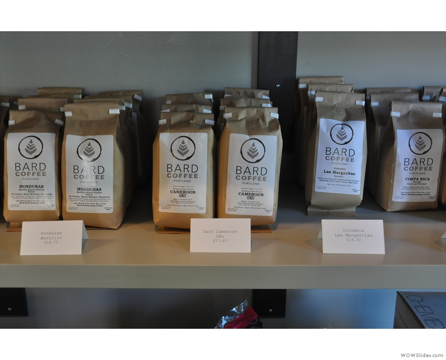 The rest is single-origin, starting with beans from Honduras and Cameroon...