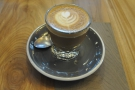 I went for a cortado, which came in a glass on this lovely saucer.