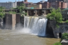High Falls, as seen from the pedestrian Pont de Rennes.