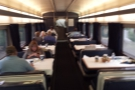 One of the best bits of travelling by sleeper: you get free use of the dining car.