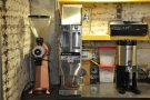 ... and behind that, the EK-43, bulk brewer and hot water system for the filter coffee.