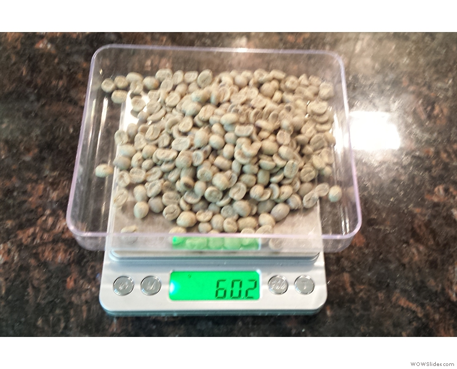 This time, I remembered to weigh them before roasting...