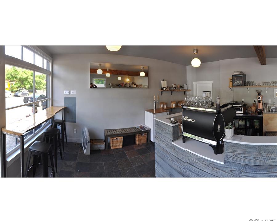 The wonderful Slate Coffee Roasters in northern Seattle...