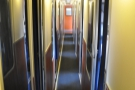 The very narrow corridor between the two rows of sleeping compartments...