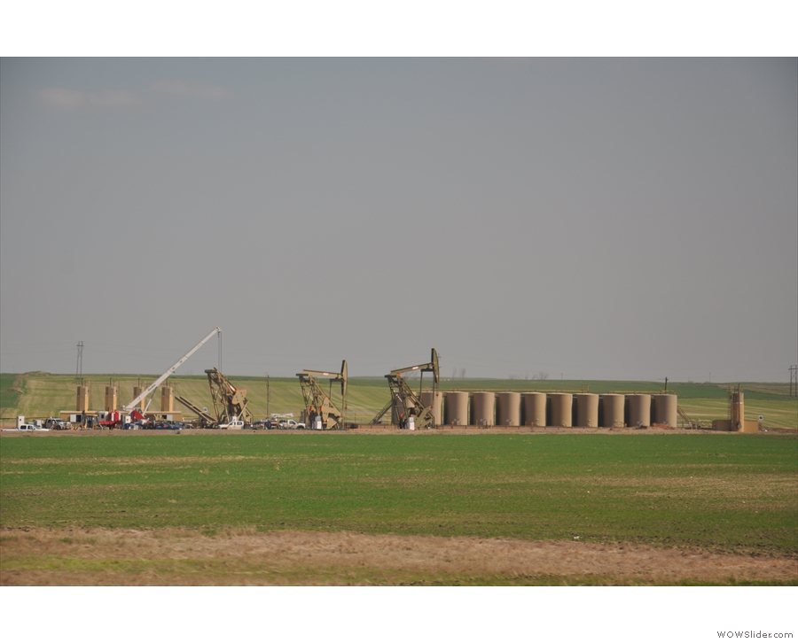 ... and elsewhere there were clusters of pumps, all part of the North Dakota oil boom.