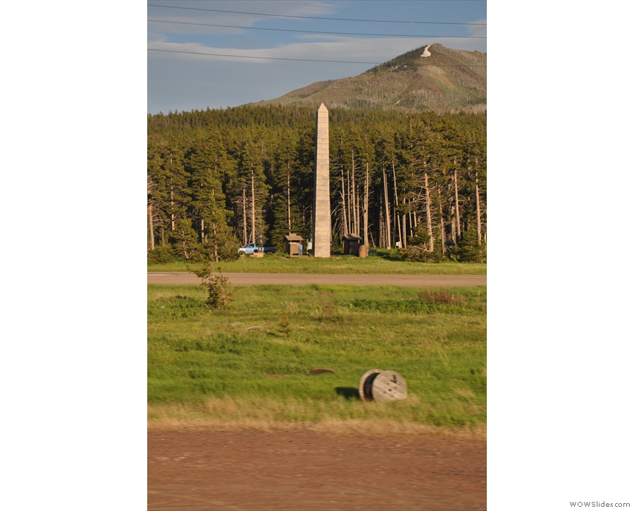 At 5,216 ft above sea level, it's the lowest pass through the Rockies between New Mexico and Canada! The obelisk is a monument to President Theodore Roosevelt by the way.