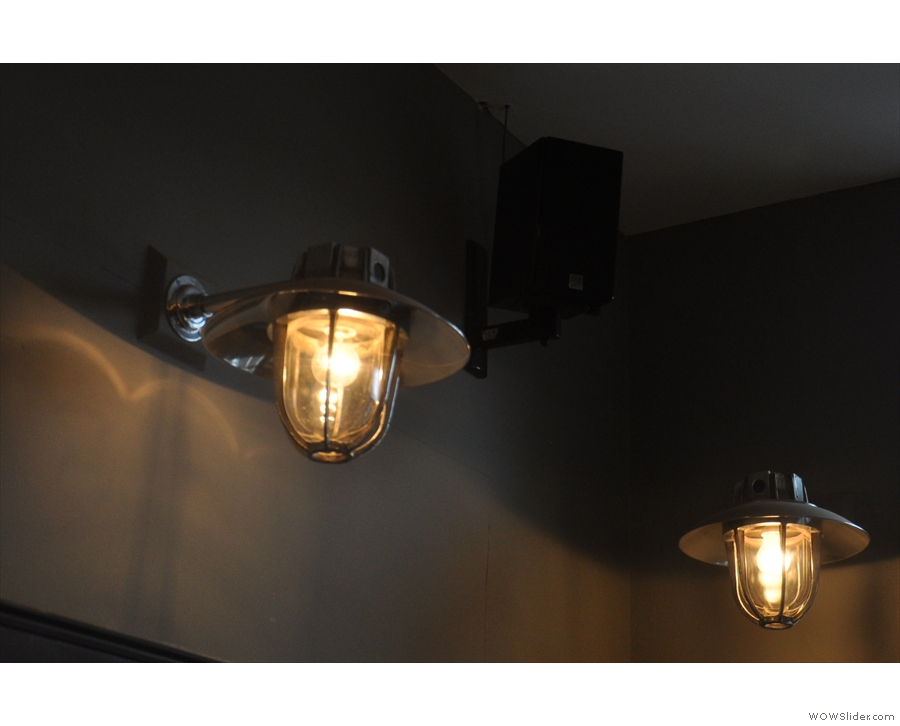 There are also these lamps on the walls.