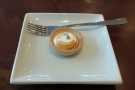 ... and accompanied by a bite-sized lemon meringue tart.