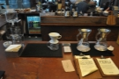 Now, however, it's the brew bar, complete with cold-brew aparatus, V60 and Chemex...