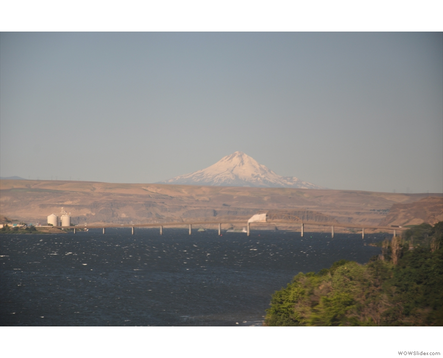 Another man-made structure dwarfed by the size of Mt Hood.
