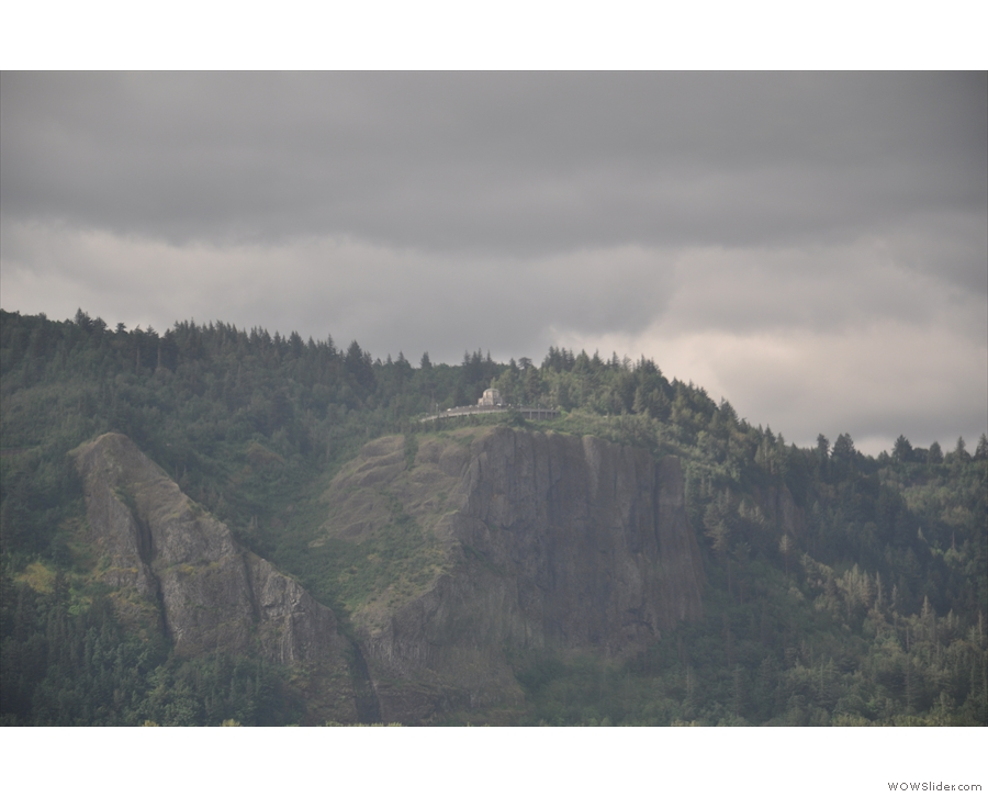 Another highlight on the Oregon side; the historic Columbia Gorge Highway look-out house.
