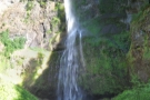 The view of the upper falls from the bridge.