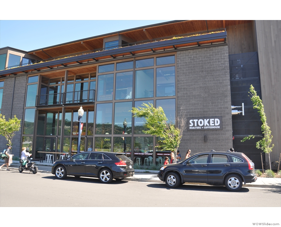 Stoked Roasters + Coffeehouse on Portway Avenue, Hood River.
