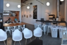 The bulk of the seating at Stoked is in the right-hand side of the coffee shop...