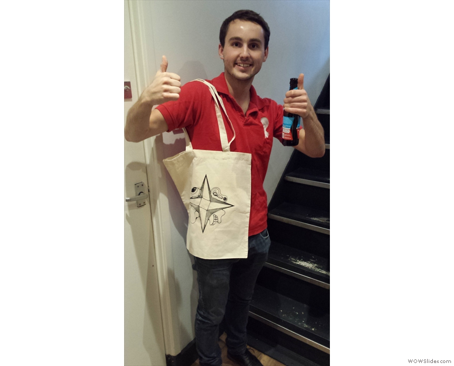 Everyone had a great evening, especially Henry from Perfect Daily Grind, who won a Tim Shaw tote bag as part of a social media/photography competition.