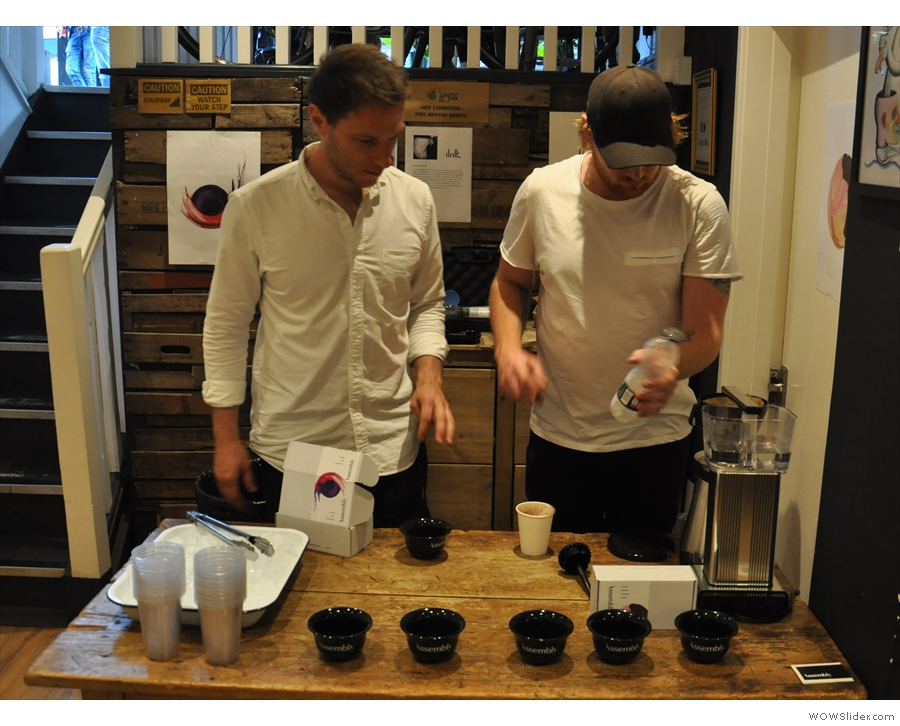 Michael & Nick from Assembly were there, preparing the coffee. Now, where does this go?