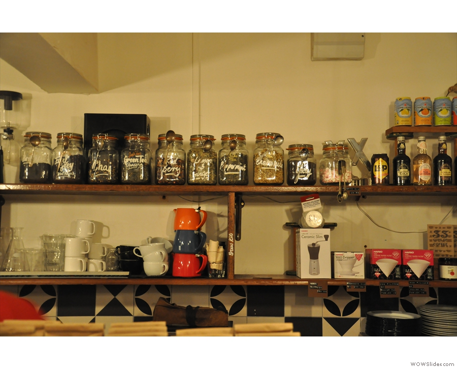 There's also plenty of loose-leaf tea to choose from, plus coffee kit for sale.