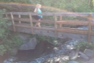 The trail starts with this bridge across a creek.